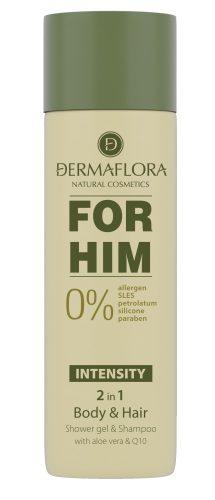 Dermaflora 0% FOR HIM tusfürdő-sampon 200 ml