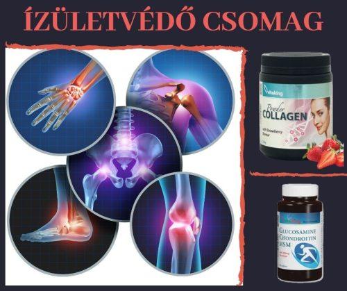 ÍZÜLETVÉDŐ CSOMAG (Testszerviz Extra Epres kollagén steviával, Glükozamin-Kondroitin+MSM komplex)