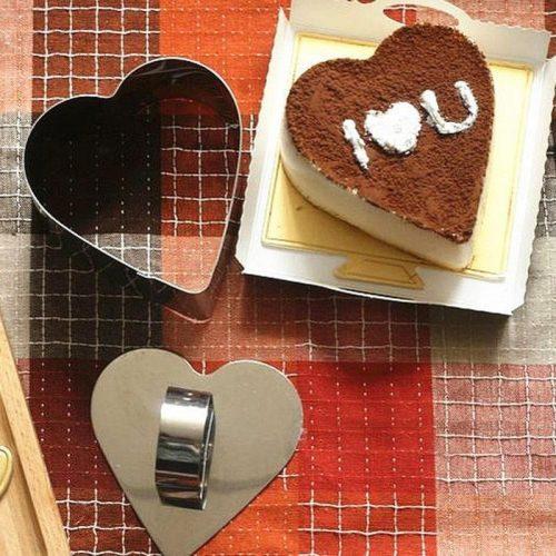 Rozsdamentes acél szív alakú sütemény (Mousse) forma